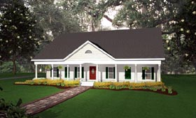 Country Traditional House Plan 64514 Elevation