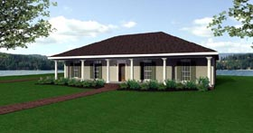 Southern House Plan 64516 Elevation