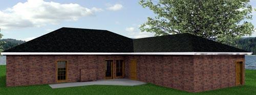 Southern House Plan 64516 Rear Elevation