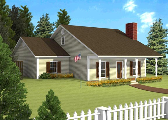 Ranch House Plan 64517 Elevation