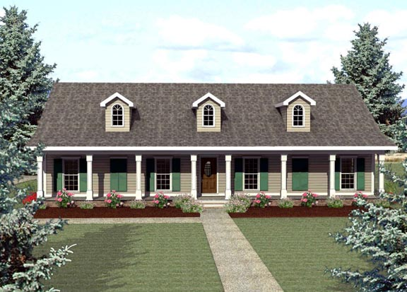 Country Ranch House Plan 64521 Elevation