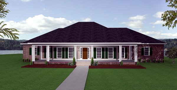 European House Plan 64524 Elevation