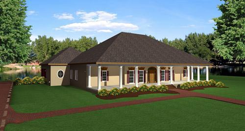 European House Plan 64525 Elevation