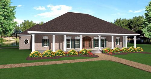 European House Plan 64526 Elevation