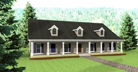 Country House Plan 64527 Elevation