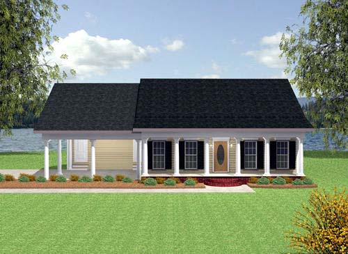 Colonial House Plan 64529 Elevation