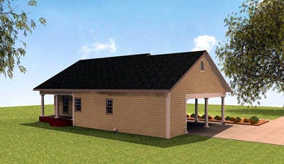 Colonial House Plan 64529 Rear Elevation