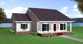 Colonial Ranch House Plan 64530 Elevation