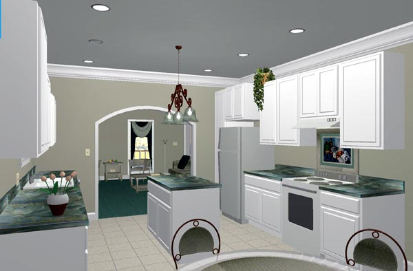 Colonial, One-Story, Southern House Plan 64531 with 3 Beds, 2 Baths Picture 3