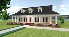 Country House Plan 64535 Elevation