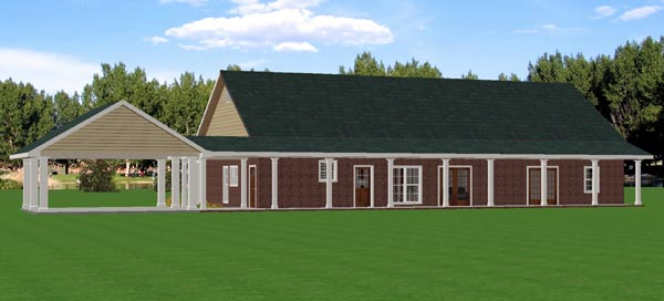 Country House Plan 64536 Rear Elevation