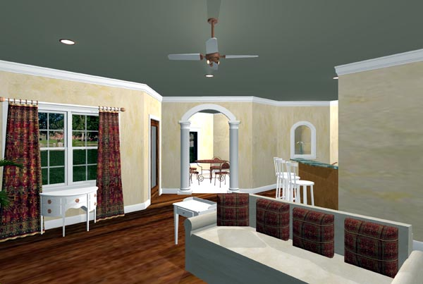 European, Traditional House Plan 64537 with 4 Beds, 3 Baths, 2 Car Garage Picture 2