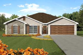 Traditional House Plan 64538 with 3 Beds, 2 Baths, 2 Car Garage Elevation