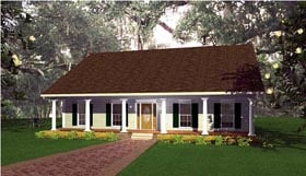 Southern , Country House Plan 64539 with 3 Beds, 2 Baths, 2 Car Garage Elevation