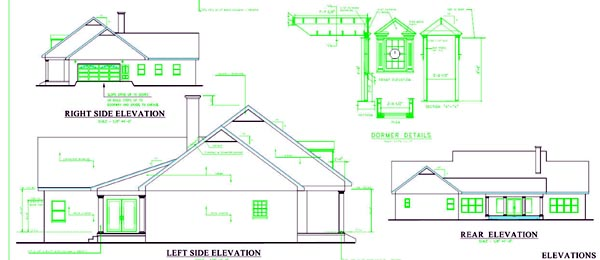 Colonial Country Southern House Plan 64547 Rear Elevation