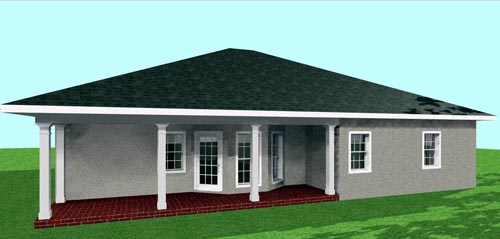 Country House Plan 64552 Rear Elevation