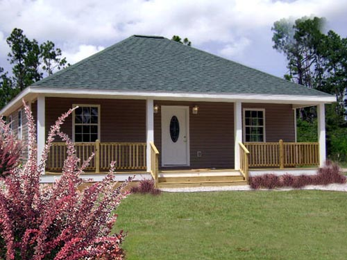 Cottage, Country, One-Story House Plan 64555 with 2 Beds, 1 Baths Picture 1