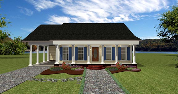 House Plan 64557 Elevation