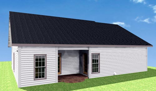 House Plan 64557 Rear Elevation