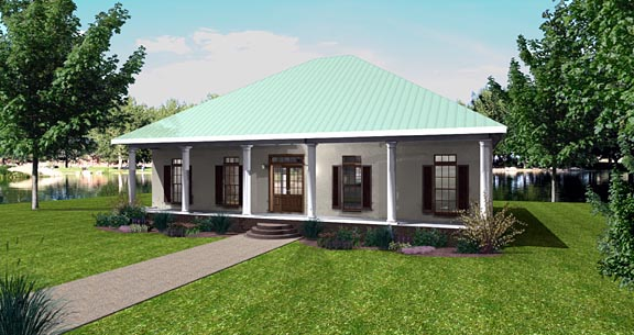 House Plan 64559 Elevation
