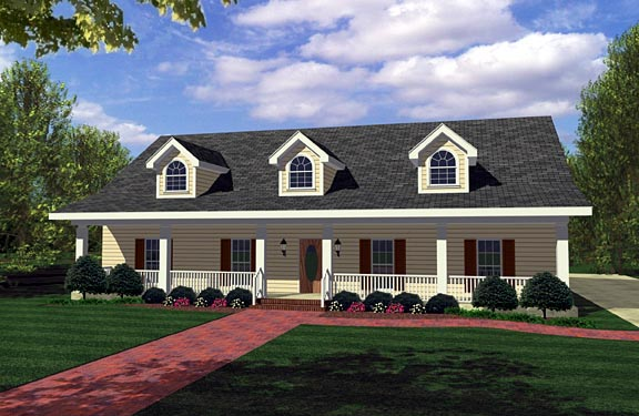 House Plan 64560 Elevation