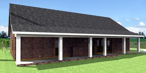 House Plan 64560 Rear Elevation