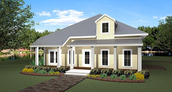 House Plan 64561 Elevation