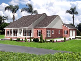 House Plan 64562 | Style Plan with 2459 Sq Ft, 3 Bedrooms, 3 Bathrooms, 2 Car Garage Elevation