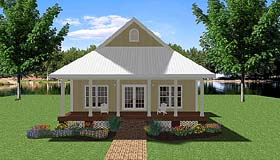 Country House Plan 64563 Elevation