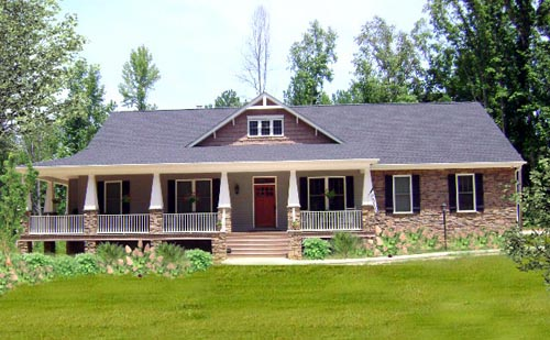 Country Craftsman Traditional House Plan 64565