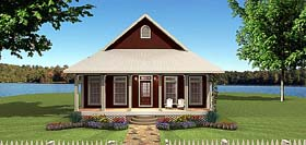 House Plan 64567 | Country Style House Plan with 1292 Sq Ft, 3 Bed, 1 Bath Elevation