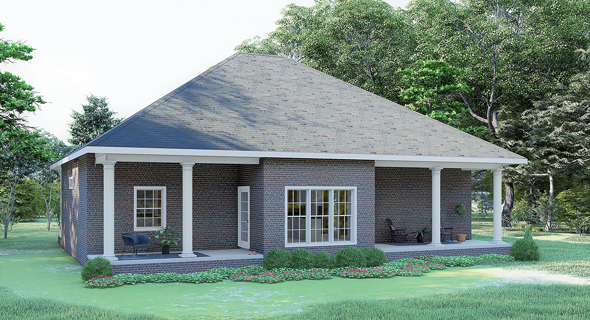Country House Plan 64568 Rear Elevation