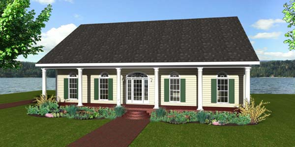 House Plan 64569 Elevation