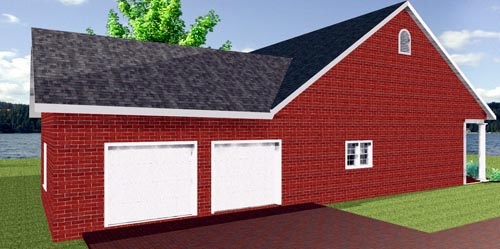 House Plan 64569 with 3 Beds, 2 Baths Picture 1