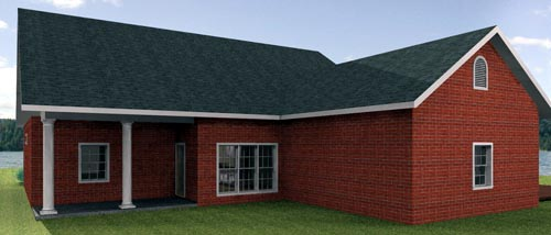 House Plan 64569 Rear Elevation