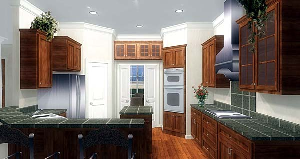 European, One-Story, Traditional House Plan 64570 with 3 Beds, 3 Baths, 3 Car Garage Picture 2