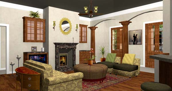 European, One-Story, Traditional House Plan 64570 with 3 Beds, 3 Baths, 3 Car Garage Picture 3