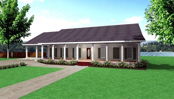 Country House Plan 64571 Elevation