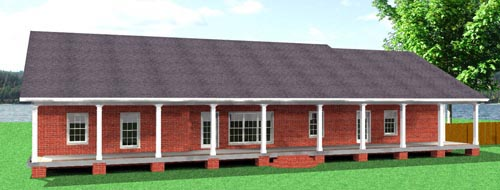 Country House Plan 64571 Rear Elevation