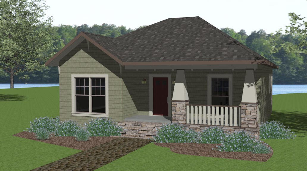 Click here to see an even larger picture craftsman house plan
