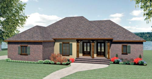 Country European House Plan 64578 Elevation