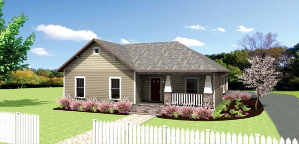 Craftsman , Country , Cottage House Plan 64582 with 4 Beds, 2 Baths, 2 Car Garage Elevation