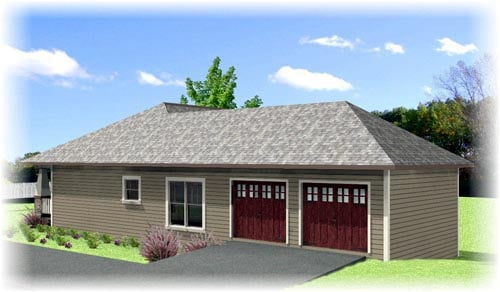 Cottage, Country, Craftsman House Plan 64582 with 4 Beds, 2 Baths, 2 Car Garage Picture 1