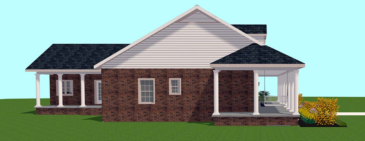Country House Plan 64590 with 3 Beds, 2 Baths Picture 1
