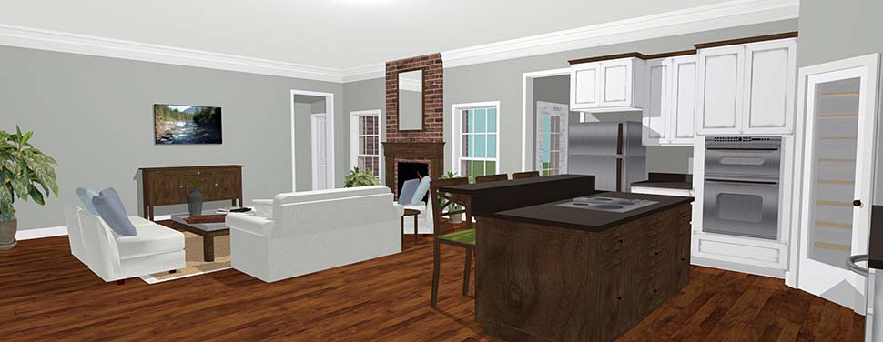 Country House Plan 64590 with 3 Beds, 2 Baths Picture 2