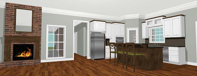 Country House Plan 64590 with 3 Beds, 2 Baths Picture 4