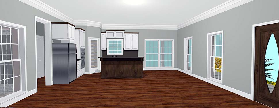 Country House Plan 64590 with 3 Beds, 2 Baths Picture 5