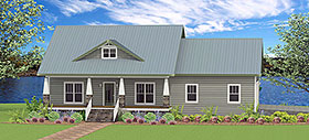 Traditional , Southern , Craftsman , Country , Cottage House Plan 64591 with 2 Beds, 3 Baths, 2 Car Garage Elevation