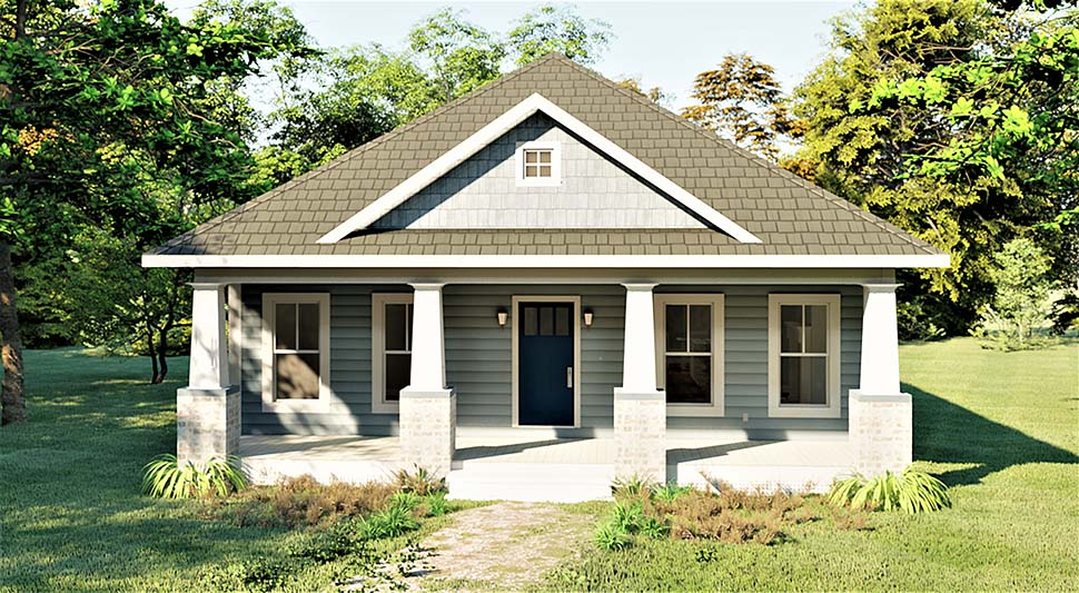 Bungalow , Cottage , Craftsman House Plan 64593 with 3 Beds, 2 Baths Elevation