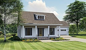 Country , Cottage , Bungalow House Plan 64594 with 3 Beds, 2 Baths, 2 Car Garage Elevation